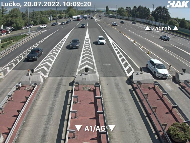 Zágrábi felhajtó Rijeka kamera képe